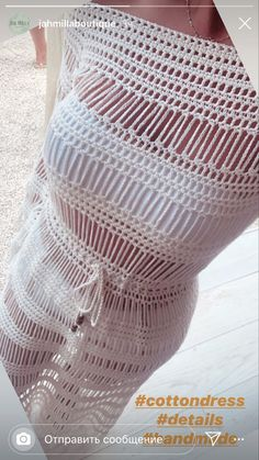 White Dress, Crochet, Dresses, Vestidos, White Dress Outfit, Crochet Crop Top, Chrochet, Dress, Crocheting