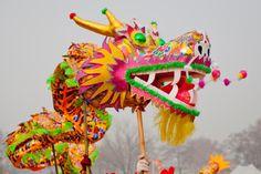 La danza del dragón no puede faltar en los festejos del Año Nuevo Lunar Chino.