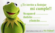Kermit - Rana Rene - Los Muppets - Tarjetas de cumpleaños para imprimir