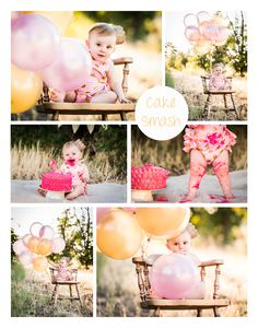 Girl's First Birthday Cake Smash Queen Creek Photographer   Stacie Bozer Photography