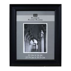 Studio Décor® Platinum Collection Hardwood Frame, Black