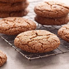 Giant Molasses Cookies Recipe -My family always requests these soft molasses cookies. These chewy molasses cookies are also great for shipping as holiday gifts or to troops overseas. —Kristine Chayes, Smithtown, New York
