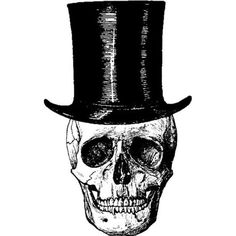 Amazon.com: Skull with Top Hat Rubber Stamp: Arts, Crafts & Sewing
