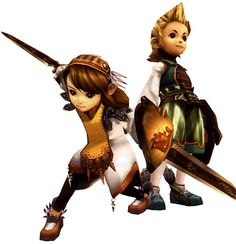 Clavat Female & Male - Pictures & Characters Art - Final Fantasy Crystal Chronicles