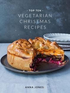 Includes Goodwill Pie, Christmas day breakfast vegeree, Cranberry and pear tart with an oat, pecan and honey crust // Anna Jones Veggie Christmas, Xmas Food, Christmas Cooking, Vegan Christmas Dinner, Christmas Dinners, Christmas Desserts, Christmas Christmas, Vegetarian Christmas Recipes, Holiday Recipes