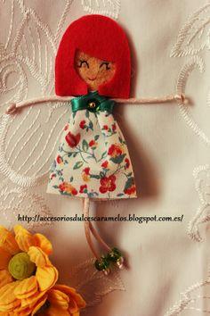 Quecas de Fieltro / Dolls felt Mod45 http://accesoriosdulcescaramelos.blogspot.com.es/search/label/Mu%C3%B1ecas%20%28Quecas%20de%20Fieltro%29