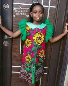 Girls African Kente Dress Size 1-2 years SALE!! Ankara Party Little Girls Dress