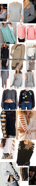 #DIY #INSPIRATIONAL IMAGE , #Shirt , #Sweater, #Cut #Back , #Shoulder , #Fall , #Winter , #Fashion
