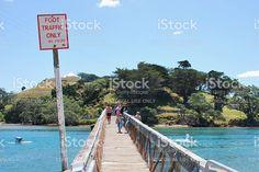 Pataua Footbridge, Whangarei District, Northland, New Zealand royalty-free stock photo Image Now, New Image, Pedestrian, Editorial Photography, Celebrity Photos, New Zealand, Royalty Free Stock Photos, News, Beach