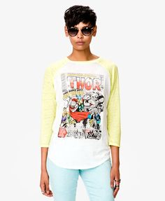 Thor baseball tee shirt from Forever 21!!!!!!! He is my favorite hero from #theavengers ! this is a must have :)