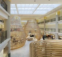 rdai hermes rive gauche boutique - The luxury retailer has the funds to build phenomenal merchandising masterpieces, and the RDAI Hermes Rive Gauche Boutique is no exception. Wooden Pavilion, Rive Gauche, Swimming Pools, Restoration, Art Deco, Design Inspiration, Boutique, Luxury