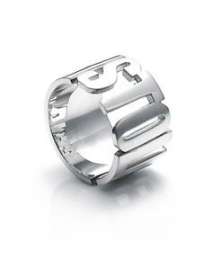 """Stolen Band ring is made in high polish sterling silver. This ring has block lettering spelling the word """"STOLEN"""". Sterling Silver Jewelry, Silver Jewellery, Statement Rings, Jewelery, Jewelry Rings, Band Rings, Girlfriends, Rings For Men, Wedding Rings"""