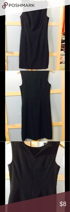 Little black dress Very black, some shimmering, never worn, not lined., some stretch. Chest flat is 19, waist flat 15, length from shoulder is 34. Dresses Midi