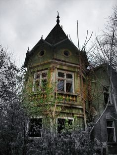 Abandoned victorian mansion