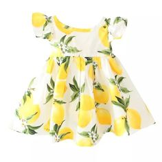 Little Lemon Dress-White sold by Little Panda Treasures. Shop more products from Little Panda Treasures on Storenvy, the home of independent small businesses all over the world.