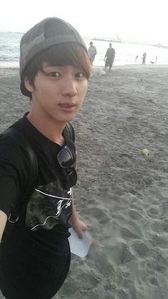 Jin at the beach in LA~