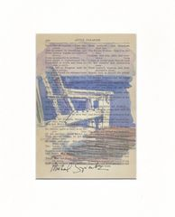 My Favorite Chairs, Watercolor Print on Antique Book Page - product images 2 of 3