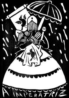 A IMPERATRIZ Criatividade, sucesso, amabilidade, fecundidade e sabedoria são representadas na imagem da Rainha do Maracatu (o Maracatu é um ritmo tradicional do nordeste do Brasil. Nas cidades Recife e Olinda, no coração do estado de Pernambuco, o maracatu desenvolveu-se a mais de 500 anos da musica e tradição das escravos proveniente da Africa).