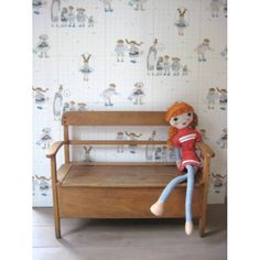 vintage houten klepbankje | www.mevrouwdeuil.nl