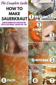 Makesauerkraut.com shares all you need to know about how to make a good jar of homemade sauerkraut. This complete guide will show you the step-by-step process from preparing the materials and tools, chopping the cabbage and veggies, adding the right amount of salt, packing and submerging the sauerkraut in brine, the fermentation process, and even how to eat and enjoy your favorite probiotic sauerkraut. Get a printable recipe!