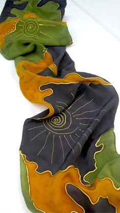 Hand Painted Crepe SILK SCARF от ShariArts на Etsy