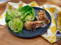 Roasted Chicken with Bibb Lettuce and Roasted Chicken Vinaigrette Recipe : Geoffrey Zakarian : Food Network Turkey Recipes, Chicken Recipes, Dinner Recipes, Dinner Ideas, Chicken Ideas, Cocktail Recipes, Kitchen Recipes, Cooking Recipes, What's Cooking
