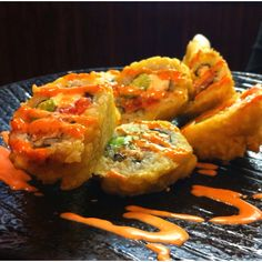 Deep Fried Sushi, so unhealthy but amazingly delicious!