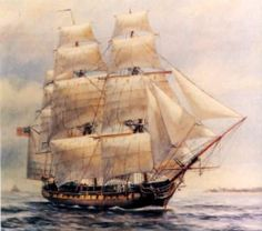 USS Chesapeake by artist F Muller / launched 1799