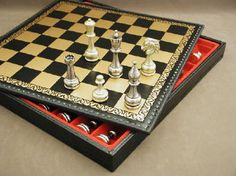 Take a look at this beauty! Large Metal Staunton Set With Leather Storage Board would make a great gift for Father's Day or any day of the year to someone very special! 10% off orders $99 & up, use code CUSTOMER REWARD at checkout. http://www.thegamesupply.com/metal-chess-sets/ See our neat renovated store offering chess, chessmen, backgammon, checkers, Mahjong, Go, cribbage and more! #metalchesssets