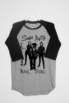 Sonic Youth T-shirt Unisex Raglan 3/4 sleeve. Scooped by RetroBCN