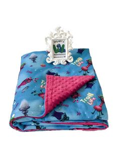 Custom Medium/Child Weighted Blanket With lavender aromatherapy and Trolls washable duvet cover.