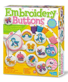 Look at this Embroidery Buttons Kit on #zulily today!