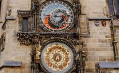 Prague Old Town Square - Astronomical Clock / Pražský orloj Prague Old Town, Prague City, Prague Astronomical Clock, Old Town Square, Big Ben, Facade, Places To Visit, Europe, In This Moment