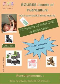 affiche bourse puériculture et jouets