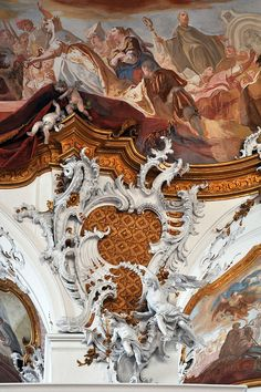 Rococo - Integrated rococo carving, stucco and fresco at Zwiefalten