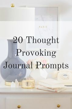 20 Thought-Provoking Journal Prompts - Elana Lyn 20 Thought Provoking Journal Prompts<br> Sick of staring at a blank page? Use these journal prompts to start reflecting. My Journal, Journal Pages, Journal Ideas, Journal Topics, Daily Journal, Keeping A Journal, Journal Entries, Journal Writing Prompts, Writing Tips