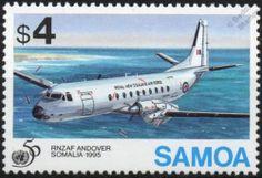 Rnzaf UN Andover C 1 HS 780 Aircraft Stamp 1995 Samoa United Nations | eBay