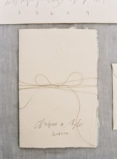 Simple, chic and rustic wedding invitations.