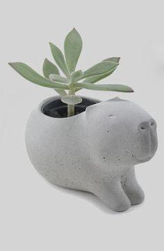 Planteur mignon capybara béton vase | Pricilla Ramos / CumbucaChic ETSY