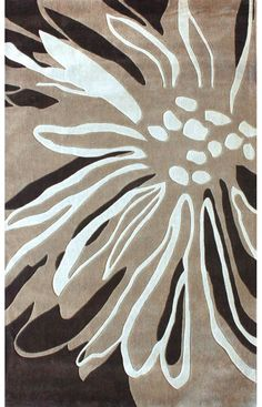 Rugs USA Radiante Floral Transition Brown Rug, style,home decor,interior,design,pattern,trend,statement,summer,cozy,sale,handmade.