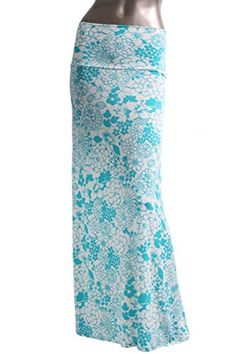 Aquila: modest flared maxi skirt with white base and blue floral print available in S-XL Maxi Skirt Outfits, White Maxi Skirts, Modest Skirts, Modest Outfits, Modest Fashion, Apostolic Fashion, Apostolic Clothing, Expensive Clothes, Long Skirts