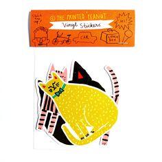 Cat Vinyl Sticker Pack   The Printed Peanut