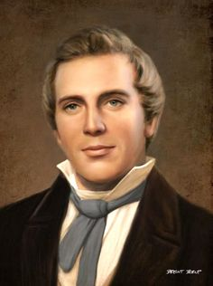 Joseph Smith: Like Unto Moses (portrait by Brent Borup) Joseph Smith, Lds Pictures, Church Pictures, Scripture Pictures, Arte Lds, Lds Art, Doctrine And Covenants, Lds Church, Church Ideas