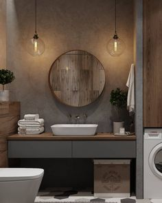 One Of The Most Overlooked Options For Contemporary Bathroom Leafy Wallpaper 105 – walmartbytes - small bathroom Contemporary Bathroom Designs, Modern Bathroom, Small Bathroom, Colorful Bathroom, Master Bathroom, Bathroom Floor Plans, Bathroom Flooring, Wood Flooring, Bathroom Trends