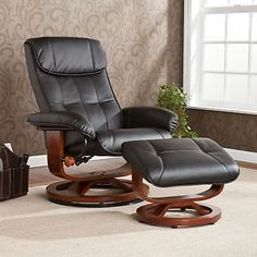 Great Cream Leather Recliner | Ottoman Sets | Pinterest | Recliner And Ottomans