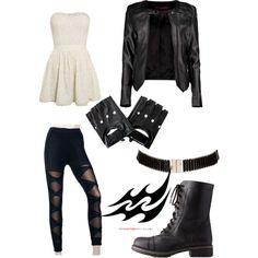 Perfect Shadowhunter outfit.