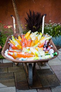 Style Me Pretty | Gallery - Mexican sodas with a bottle of booze on the side. Don't forget the straws. #LoveSobeys