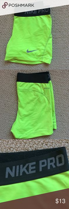 NIKE spandex shorts Really comfortable, some wear and tear on the symbol and lettering Nike Shorts