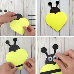day activities for kids fun Valentine Heart Cards: Ladybug And Bee Cards For Kids To Make Toddler Valentine Crafts, Kinder Valentines, Valentine Heart, Valentine Day Cards, Valentines Diy, Lady Bug, Valentine's Day Crafts For Kids, Valentine's Cards For Kids, Bee Cards