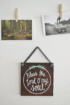 Bless the Lord O my soul Rustic Wood Sign by LittleFlockDesigns for sale
